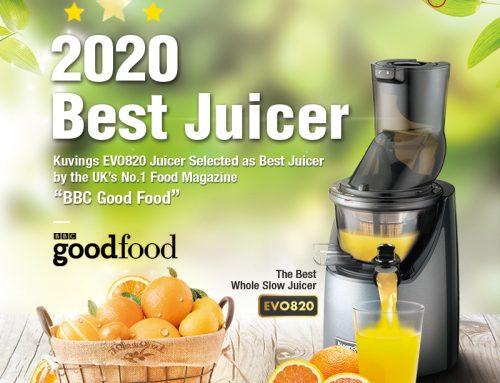 "KUVINGS 冷壓活氧萃取原汁機 CTS82 被"" BBC美食"" 評選為最佳榨汁機"